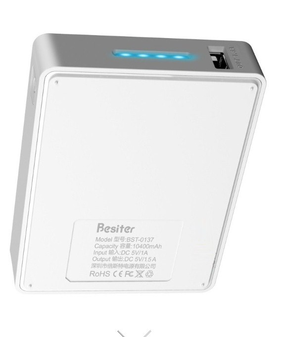 Besiter Mobile Power Portable Flat Panel 10400 For Ipad